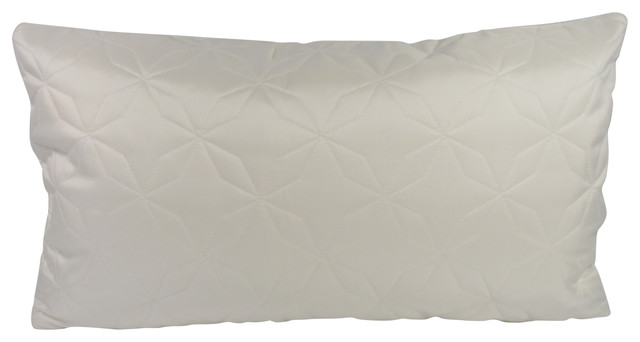 Jeff L Designs - Modern White Lumbar Throw Pillow with Feather Down Insert - View in Your Room ...