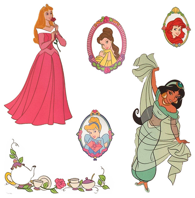 Good Disney Princess Stickers Royal Portraits Wall Decals Contemporary Wall  Decals