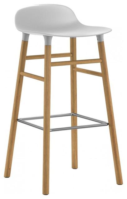 Form Barstool, White