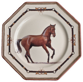 Chantilly Equestrian Horse Dinnerware traditional dinnerware