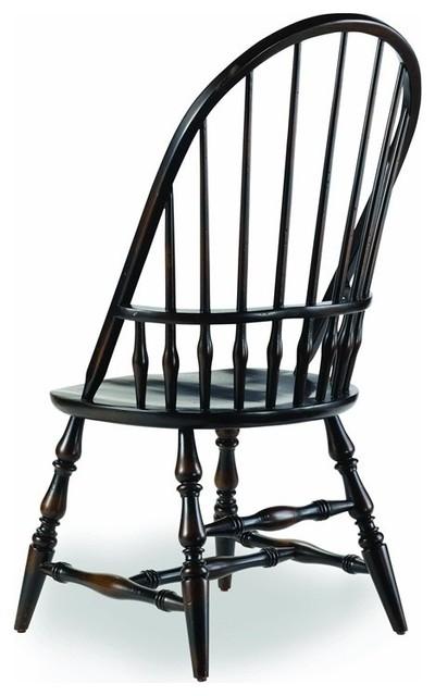 Alfred Windsor Side Chair, Ebony.