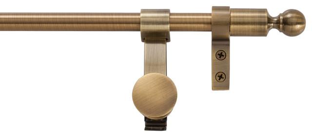 "Regency Collection Tubular Base Set, Ball Finials, Antique Brass, 36""."