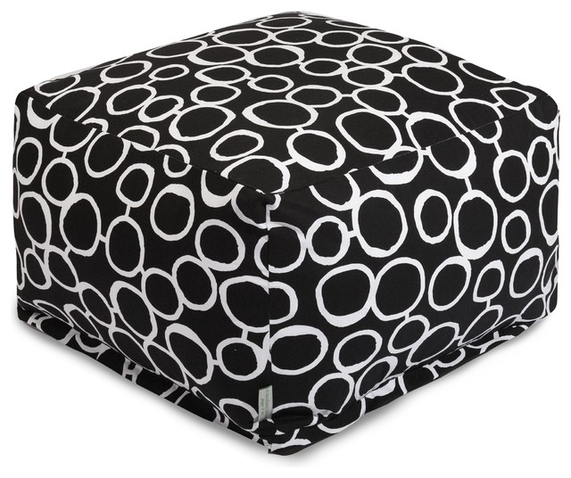 Terrific Fusion Black Ottoman Gmtry Best Dining Table And Chair Ideas Images Gmtryco