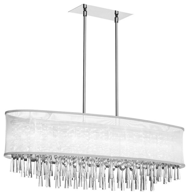 Oval Chandeliers: Dainolite JOS368-PC-119 8 Light Crystal Oval Chandelier Pc Finish  contemporary-chandeliers,Lighting
