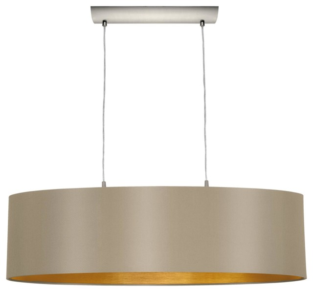 Light Standard Bulb Island Light Matte Nickel Transitional - 2 light island chandelier