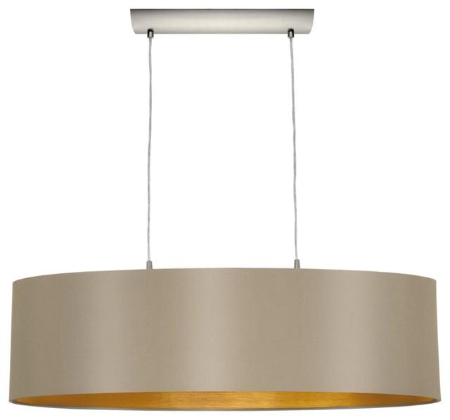 2 Light Standard Bulb Island Light, Matte Nickel ...