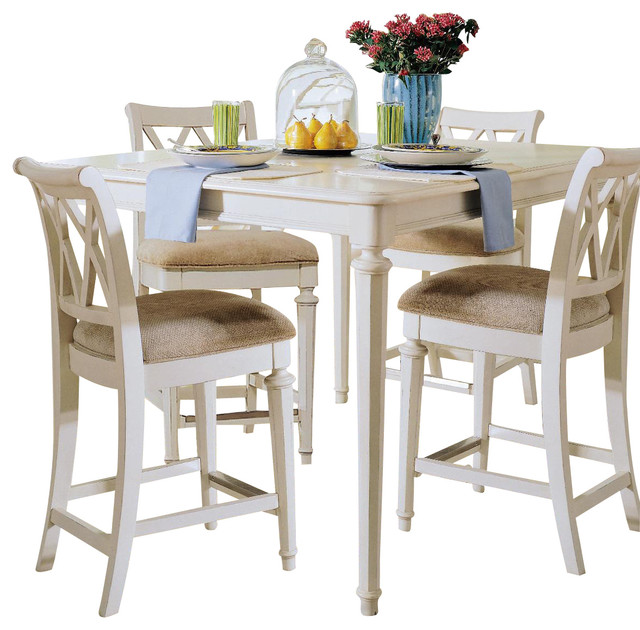 American Drew Camden Light 5 Piece Dining Room Set, White Traditional Dining
