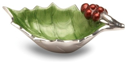 Holly Sprig 6.5-inch Mojito Green Bowl