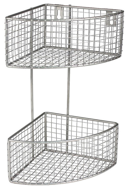 a8612bc608b Wall Mounted Wire Basket - Contemporary - Display And Wall Shelves - by  Organize-It