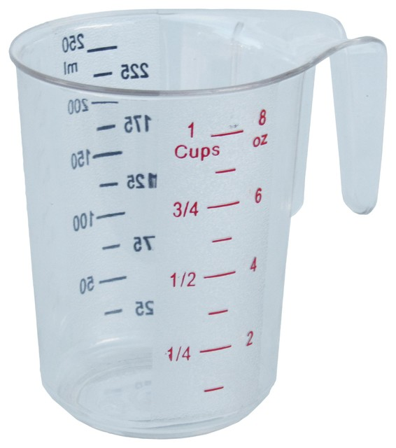 1 Cup Polycarbonate Clear Measuring Cup With Handle Each