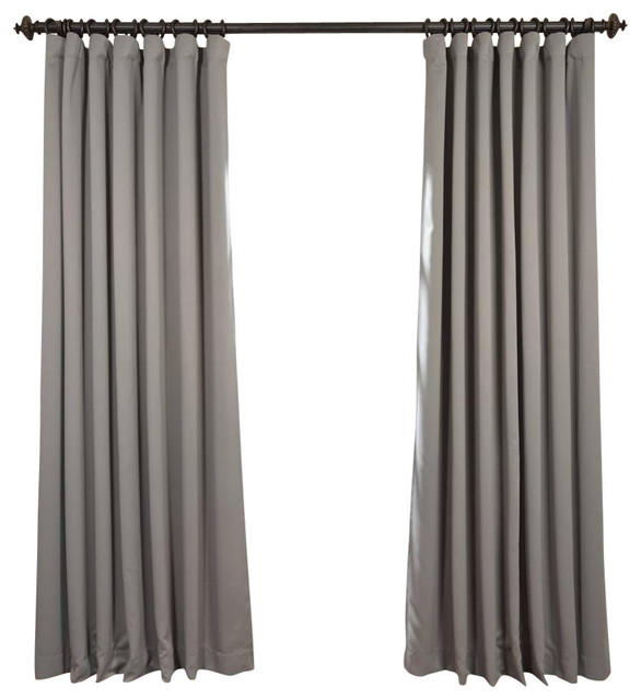 """Neutral Gray Doublewide Blackout Curtain Single Panel, 100""""x108""""."""