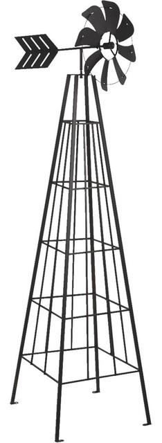 Panacea 88840 Tubular Design Windmill Obelisk, Black, 6&x27;.