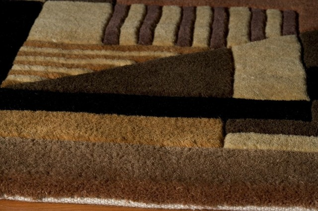 New Wave Area Rug, Rectangle, Gold, 5&x27;3x8&x27;.