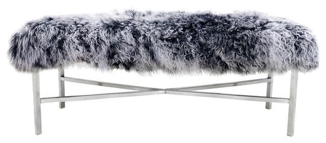 Mongolian Fur Bench.