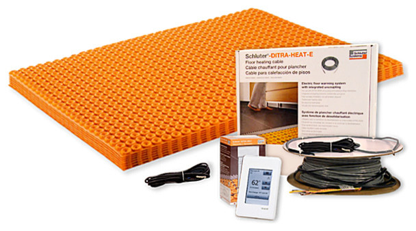 DITRA-HEAT Kit 43.1 sqft Mat + 26.7 sqft Cable + Touchscreen Thermostat