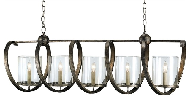 Currey Company Maximus Rectangular Chandelier Industrial