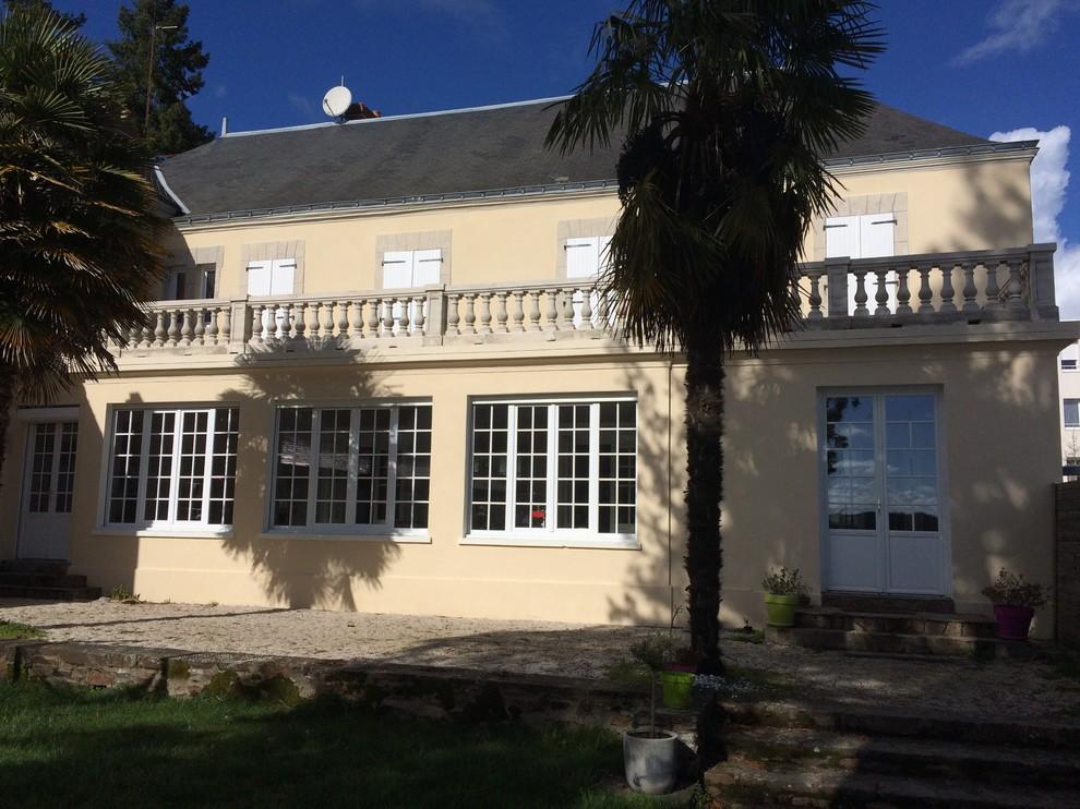 Rénovation de façade d'une belle maison des bords de Loire