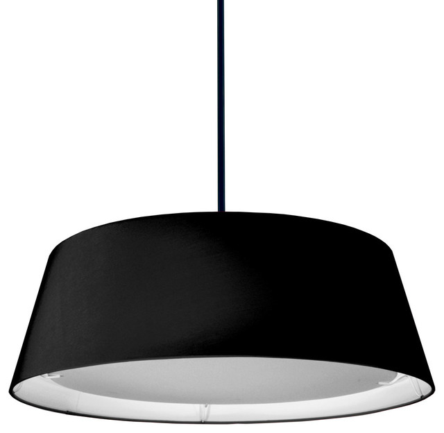 Dainolite 22 Watt Led Tapered Drum Shade, Black, Tdled-24lp-Bk.