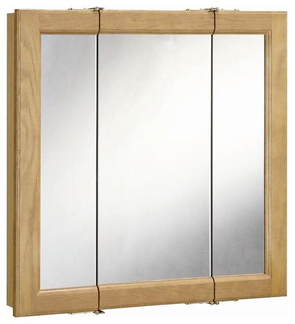 Richland Ready-To-Assemble Tri-View Medicine Cabinet, 24 in. - Farmhouse - Medicine Cabinets ...