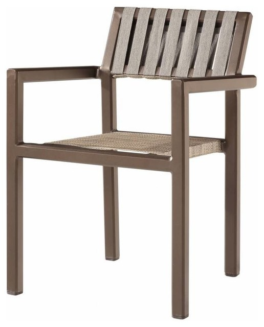 Amber Modern Outdoor Dining Chair with Arms Contemporary Outdoor Dining C