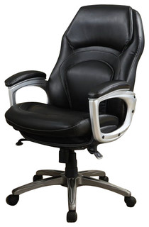 Serta Back In Motion Executive Office Chair In Black Bonded Leather   Office  Chairs   By Homesquare