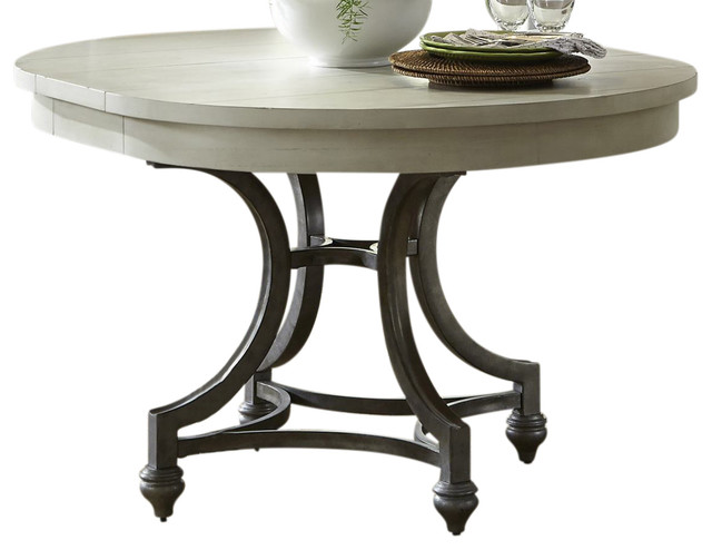 Round Table Bedroom Furniture: Liberty Furniture Harbor View III Round Dining Table, Dove
