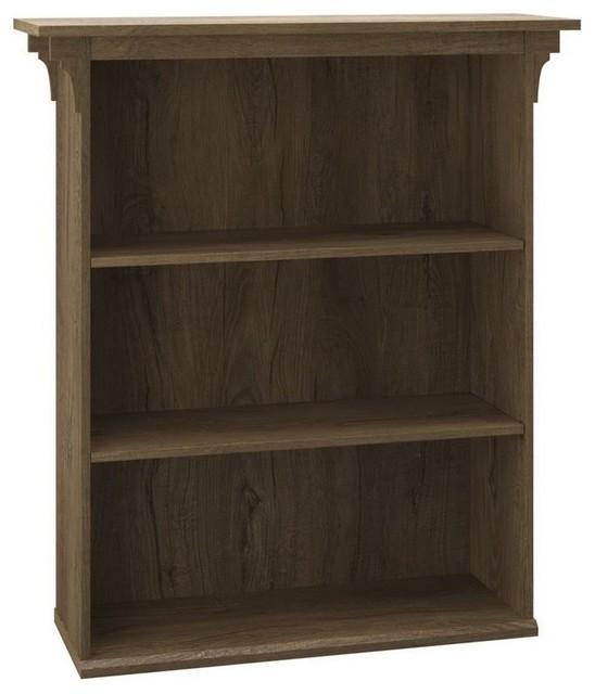 Mission Furniture In Transitional Design: Bush Furniture Mission Creek 3-Shelf Bookcase, Rustic