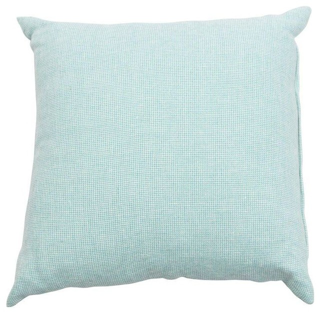 Beach Style Pillows : Pre-owned Light Teal Throw Pillow - Beach Style - Decorative Pillows - by Chairish