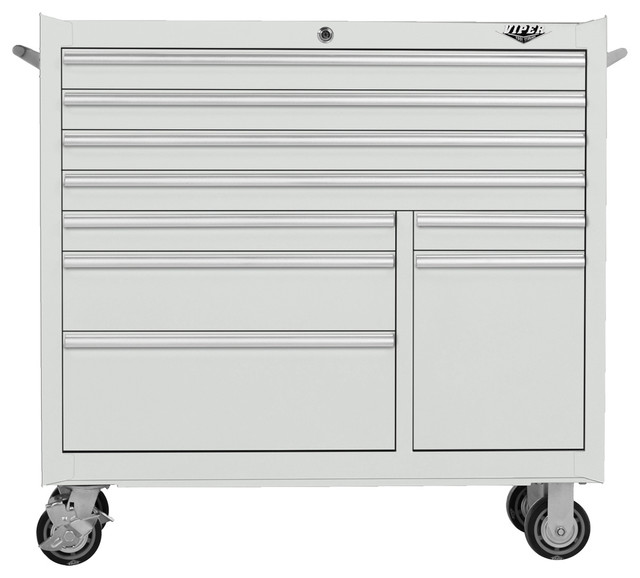 ... Steel Rolling Tool Cabinet, White industrial-garage-and-tool-storage