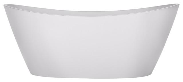 "Gazed Freestanding Bathtub, White, 67"". -1"