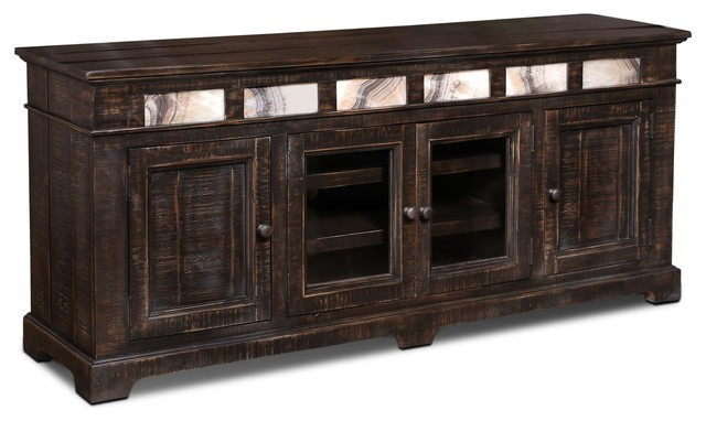 75 tv stand. onyx solid wood 75\ 75 tv stand w