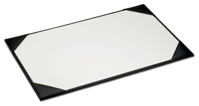 Black Leather Desk Pad With Blotter Paper 38 X24 Desks And