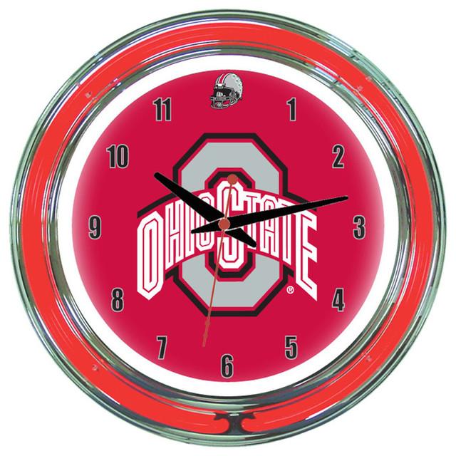 Wave 7 Ohio State Buckeyes 14 Quot Wall Clock Neon