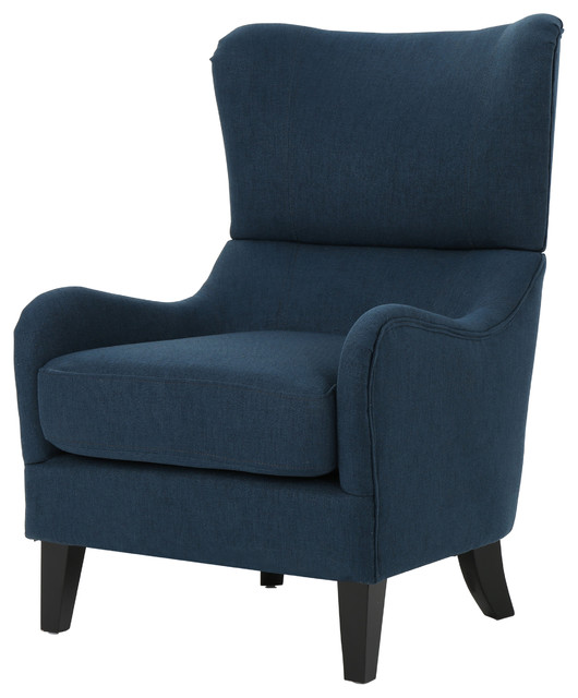Quinn Navy Blue Fabric Sofa Chair, Navy Blue transitional-armchairs-and- accent