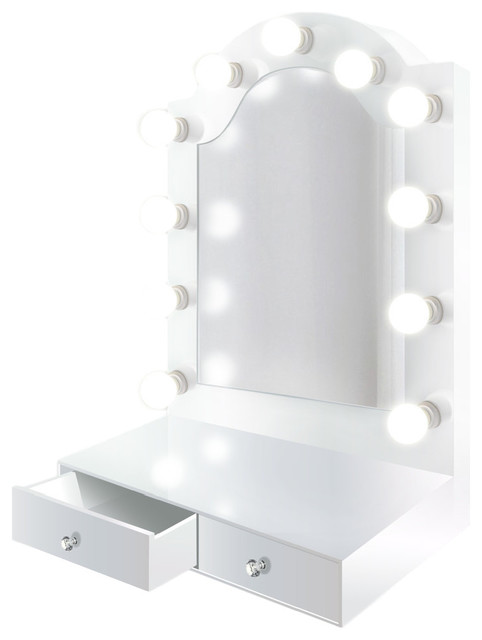 Led Lighted Hollywood Makeup Vanity Mirror Table Top Or Wall Mount