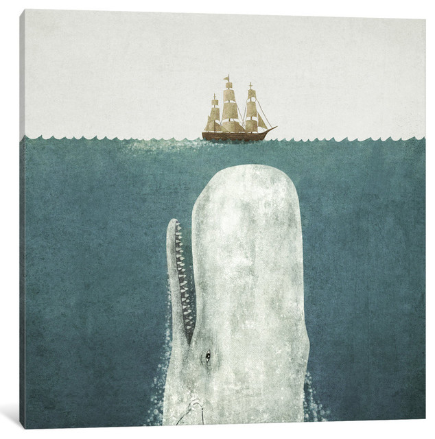 "The Whale Art Print By Terry Fan, 12""x12""x1.5""."