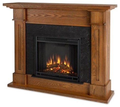 Kipling Electric Fireplace, Burnished Oak.