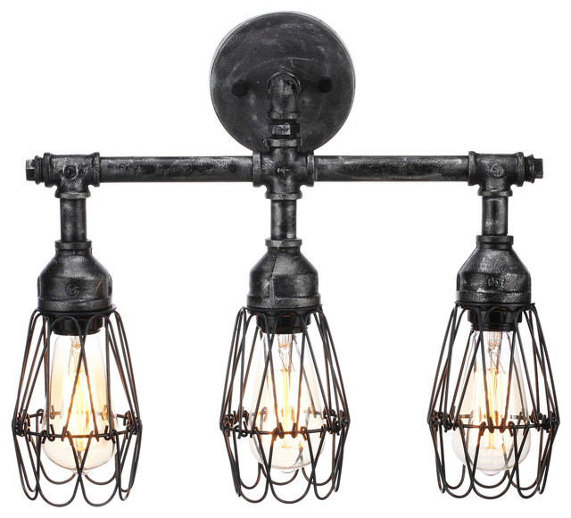 pictures of bathroom vanity lights. Admiral 3 Bulb Bathroom Fixture industrial bathroom vanity lighting  Industrial Vanity