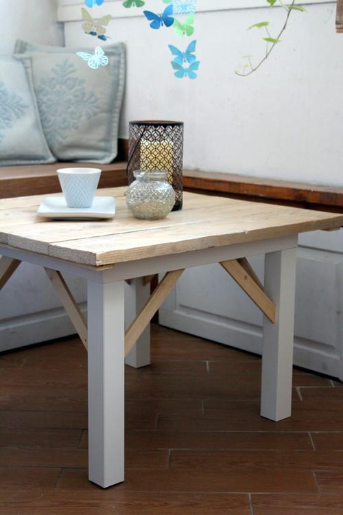 Lack Tavolino Con Rotelle Ikea.Ikea Hack Il Tavolino Lack In Stile American Country