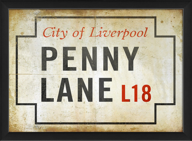 Penny Lane Sign Print Contemporary Prints And Posters