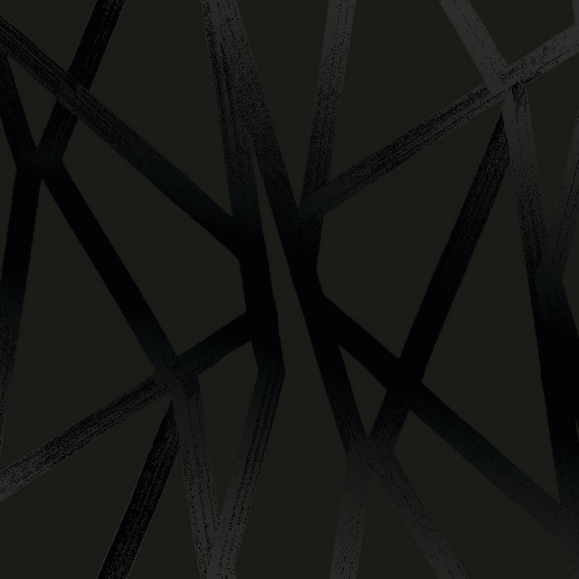Intersections Black On Black Peel And Stick Wallpaper Contemporary Wallpaper By Tempaper