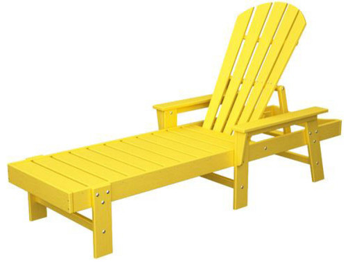 Polywood sbc76le south beach chaise lemon finish asian for Asian chaise lounge