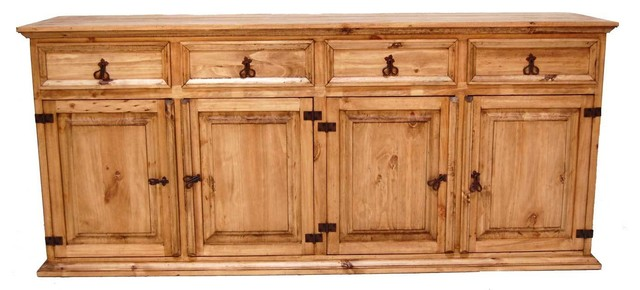 Large China Cabinet Base - Southwestern - China Cabinets And Hutches - by Million Dollar Rustic