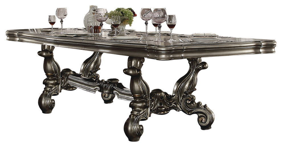 Acme Versailles Dining Table Antique Platinum Victorian Dining Tables By Acme Furniture