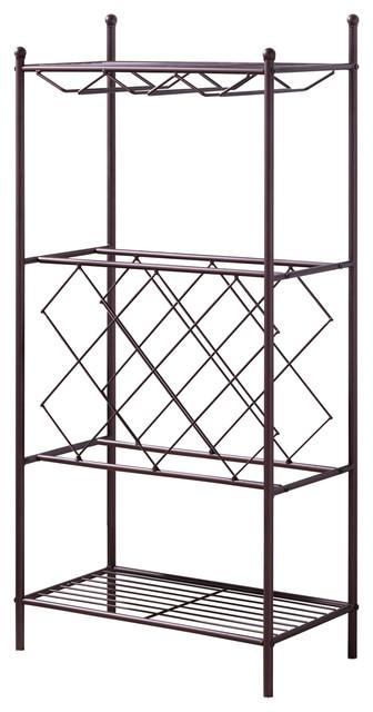 Sorrel Freestanding Wine Rack Stand, Bronze Metal