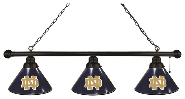 Notre Dame Nd 3 Shade Billiard Light With Black Fixture