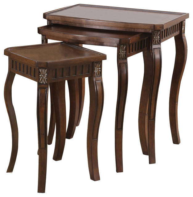 Coaster Nesting Tables Set Of 3 Cherry Traditional Coffee Table Sets By Gwg Outlet