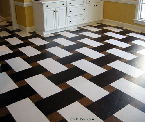 Basketweave Cork Tile Floor From Globus