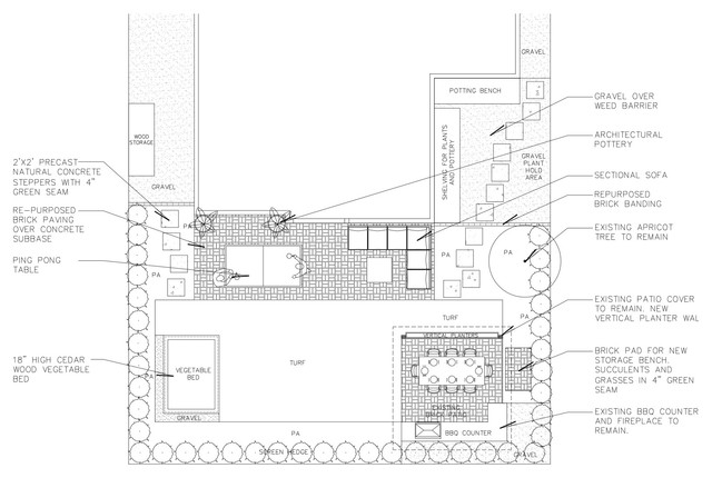 Beach Contemporary Backyard site-and-landscape-plan