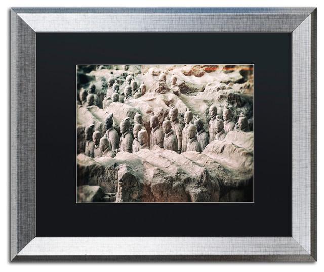 "Philippe Hugonnard 'Terracotta VIII' Art, Silver Frame, Black Matte, 20""x16"""